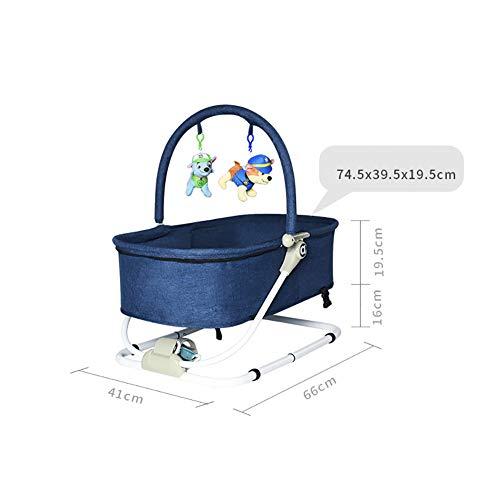 Imagen para SSYC-CY Mecedora de los niños del bebé recién Nacido reclinable Silla Comfort Comfort Bed 2 en 1 Cuna Cama, Ligero portátil Plegable Calidad Tela