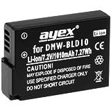 Ayex CGA-S10–Batterie de rechange pour Panasonic GF2/DMC-GF2 DMC- GF2K