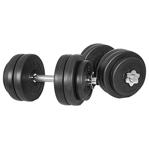 Gorilla Sports 10000079 - Set di manubri per pesi con...