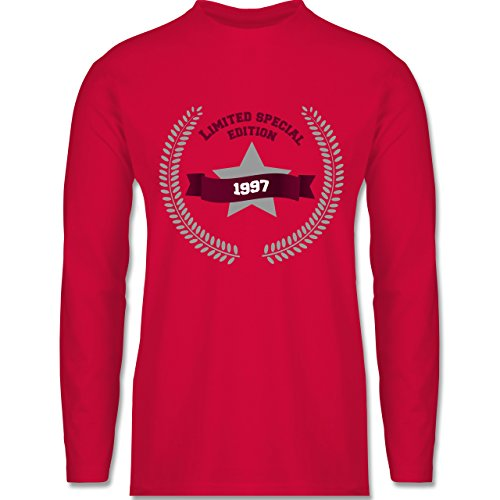 Shirtracer Geburtstag - 1997 Limited Special Edition - Herren Langarmshirt Rot