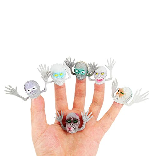 Omiky® Kinder Baby 6 Teil / satz Neue Exotische Fingerpuppen Kunststoff Geister Finger Mini Spielzeug (Mädchen Fingersatz)