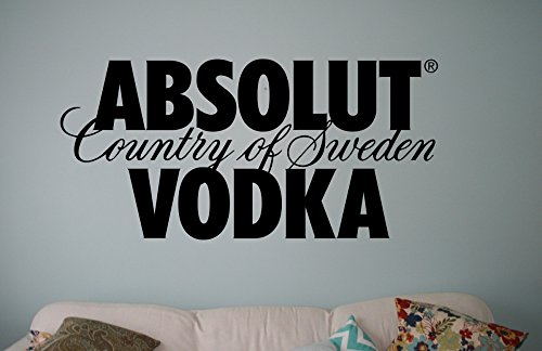 Adesivo da parete Absolut Vodka, Vinile, nero, Large