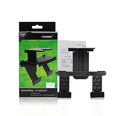 Universal TV Mount for XBOX ONE, 360, PS3, PS4, Wii, Wii U, Kinect, Eye, Sensor Bar