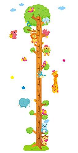 Fablcrew - adesivi da parete con misuratore di altezza, per la stanza dei bambini