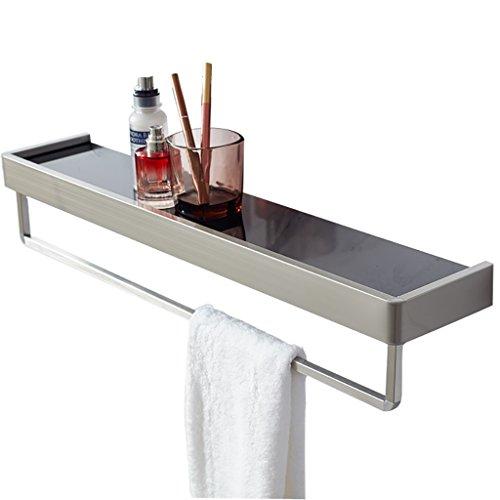 Badezimmer Regal Badezimmer Spiegel Vorderregal Einzigen Schicht Glas 304 Edelstahl Perforierte Badezimmer Waschbecken Wand Badezimmer Regale (Größe : 40 * 12cm)