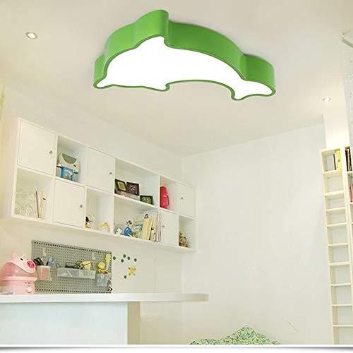 Lámpara De Techo Pintura acrílica Protección de los ojos de la lámpara de techo de 20W la historieta...