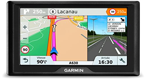 Garmin 010-01679-12 Drive 61LMT-S 6-Inch Sat Nav with Lifetime Map Updates for UK, Ireland, Full Europe and Free Live Traffic - Black