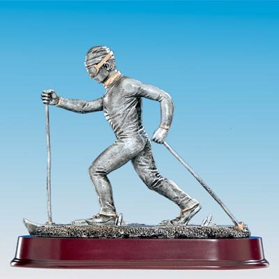 Figur Ski Langlauf H = 240mm Inkl. Wunsch Gravur