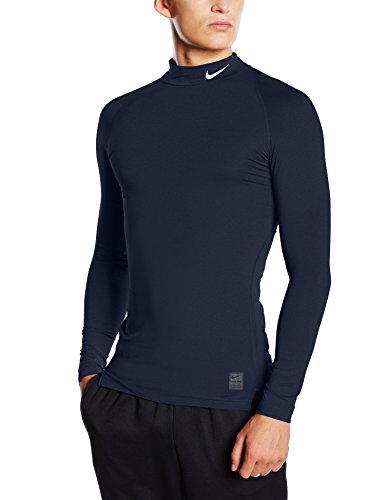 Nike Herren Langarm Kompressionsshirt Pro Cool, obsidian/dark grey/white, M, 703090-451