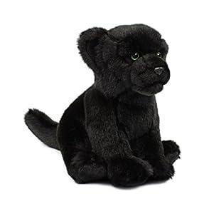 Mimex WWF12696 - Pantera de Peluche (23 cm), Color Negro