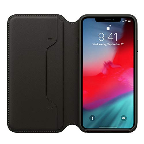 MMLC Für iPhone XS Max 6.5 inch Hülle Tasche Leder Case I Abnehmbare Cover I Ledertasche Kartenfach Standfunktion Echtleder Hülle Lederhülle Ledercase Handyhülle (Black) (Computer-gehäuse Speck)