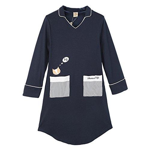 JINSHENG Herbst und Winter Stricken Baumwolle Liebhaber Pyjamas NachthemdLangarmHerren Strickjacke Home Service Cartoon Anzug M L97309262 (Stricken Nachthemd Baumwolle)