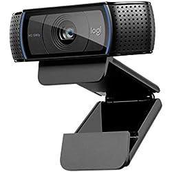 Logitech, Webcam C920 HD Pro, Appels et Enregistrements Vidéo Full HD 1080p, Gaming Stream, Deux Microphones, Petite, Agile, Réglable, Noir
