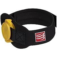Compressport Timing Chip Strap - Cinturón de hidratación para running, color negro, talla 7XL