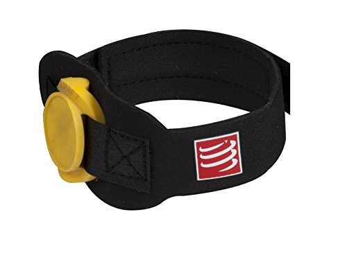 Compressport Timing Chip Strap - Cinturón de hidratación para running, color negro, talla 7XL