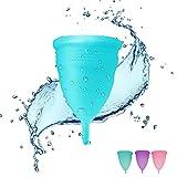 KEMANDUO Menstruationstasse, Sicher Und Gesund, Tragbare Wasserdichte Damenbinde, Purpurrote Blaue Menstruationstasse, Gesundheitsprodukte Der Frauen,Blue,S