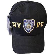 Sombrero de béisbol NYPD policía de Nueva York departamento negro y dorado Talla única