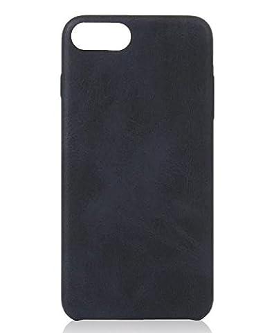 [ Apple iPhone 6 Plus, Schwarz ] Hülle PU-Leder / Leather Case ALCANTARA - Optik / innen samtweich / Ultra