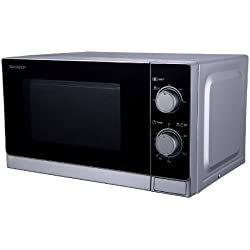 Sharp R-200INW Freestanding 20L 800W Metallic,Silver - microwaves (306 x 306 x 208.2 mm)