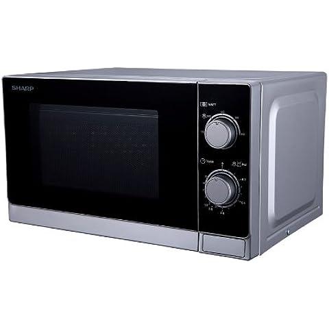 Sharp R200INW - Microondas, 20 l, control mecánico, 800 W, color plata