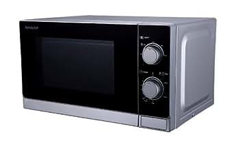 Sharp - r200inw - Micro-ondes 20l 800w silver
