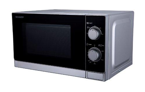 Sharp R200INW Mikrowelle/800 W/20 L Garraum/silber/schwarz