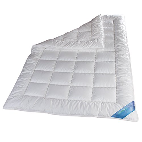 Schlafmond Medicus Clean Allergiker Ganzjahresdecke, Bettdecke aus Baumwolle waschbar bis 95 Grad (200x220 cm)