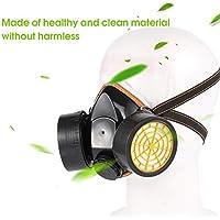 Máscara de Gas Negra Supervivencia de Emergencia Seguridad Máscara de Gas respiratoria Pintura contra el Polvo Máscara de respirador con 2 filtros Protectores Dobles