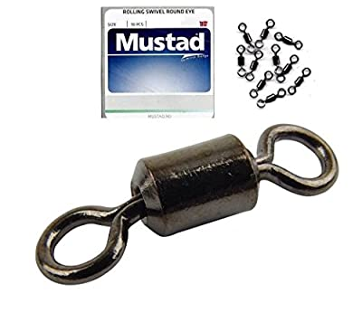 Mustad Sea Fishing Round Eye Swivels - Pack of 50 by Leeda