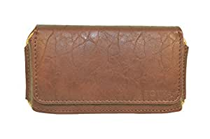 Totta Pu Leather Hand Pouch For Micromax Bolt Q383, Brown