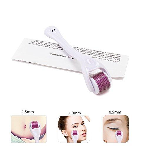 Dermaroller 1.5mm + Free User Guide-540Micro Needle Roller Einsatz auf Falten, Schwangerschaftsstreifen, Akne, Haarausfall, Narbenentfernung und Hyper-Pigmentierung