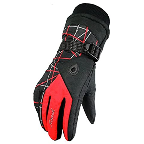 YF-36 Women's Thinsulate Waterproof Bulky Ski Glove Outdoor Cycling Mittens With Ridges