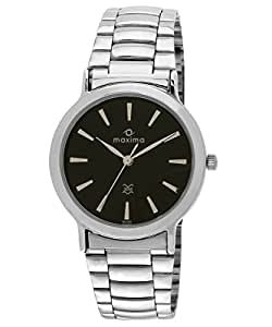 Maxima Attivo Analog Black Dial Men's Watch - 10052CMGI