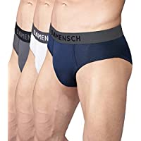 DAMENSCH Men's 3X Softer Micromodal Air Briefs - Pack of 3 (100% Guarantee if NOT satisfied) Colors - Frostt White, Wilsen Grey, Scot Blue