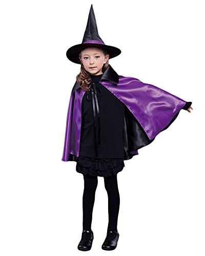 Robe Umhang Zauberer Geeignet für Halloween Kostüme Cosplay Cape Violett 70 (Günstige Vampir Kostüme Für Frauen)