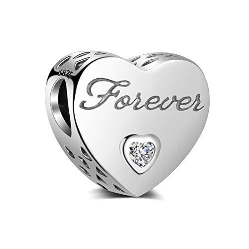 I love you forever Charm Authentic 925 Sterling Silber Beads für Pandora & alle Europäische Charm-Armbänder und Ketten