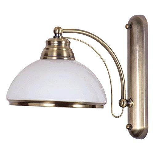 Applique stile classico colore bronzo antico metallo vetro decorativo tradizionale 1-lamp E27 1x60W 230V