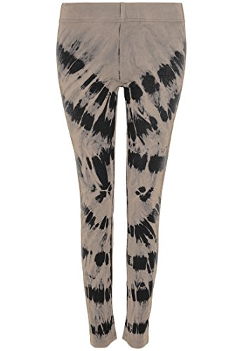 Urban Classics Damen Leggings Acid Wash Splash blk/beige