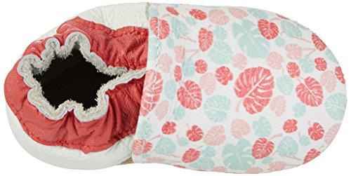 Rose & Chocolat Maui Leaf Print, Chaussons pour enfant bébé fille Mehrfarbig (pink)