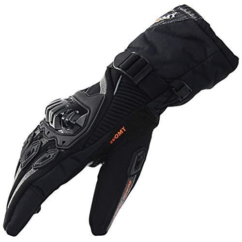 Mdsfe Guanti moto 100% impermeabili antivento Guanti caldi invernali Moto Luvas Touch Screen Motosiklet Eldiveni protettivo XL