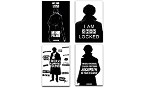MC SID RAZZ Sherlock TV Series Printed Wall Poster (Fabric, 12x18 Inches, Multicolour) - Pack of 4