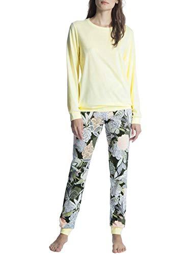 Calida Cosy Cotton Fair Pyjama mit Bündchen Damen -