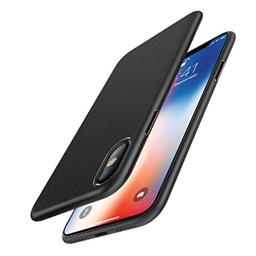 iPhone X Custodia, [Funziona la ricarica wireless] EasyAcc Ultra Sottile Solo 0,45 mm PP Anti Graffio Case Anti Impronte Protettiva e Leggera Cover per iPhone X - Nero Opaco