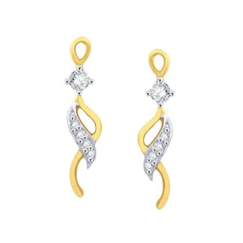Giantti 14carats Diamant pour femme Dangler Boucles d'oreilles (0.178CT, VS/Si-clarity, Gh-colour)