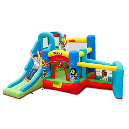 Bouncy Castles Sports Toys Summer Outdoor Children's Household Large Slide Home Garden Children's Playground Boy And Girl Inflatable Trampoline Children's Inflatable Toy House
