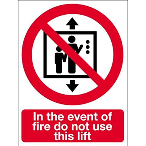 Seguridad contra incendios muestra - en caso de incendio no utilice este ascensor