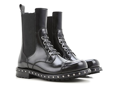 Dolce & Gabbana womens mid calf booties in black calf leather - Model number: CT0216 AC801 80999