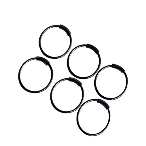 creatspaceDE Runde Kreis-Form Medical Nasenring Damen Female Body Clip Hoop für Frauen Septum-Piercing Clip Schmuck Geschenk Farbe: schwarz