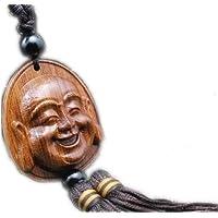 LUCKY Amass Fortunes Collection-Decorazione in porcellana da intaglio legno, BUDDHA Statua)