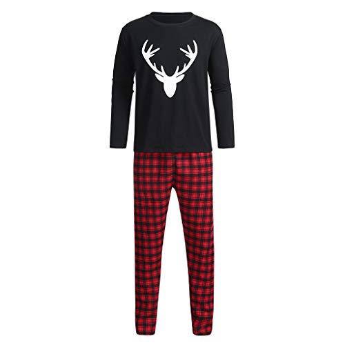 ab2554ac3ffcd Ensembles de Pyjama Noël Pyjama LHWY Noël Famille Deer Plaid Letter Family  Set Vêtements Vêtement de